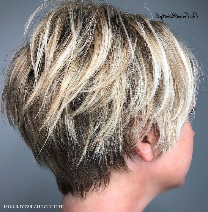 Long Razored Shag Cut With Balayage – 60 Short Shag Intended For Long Pixie Hairstyles With Dramatic Blonde Balayage (View 10 of 20)