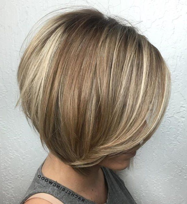 Long Stacked Bobs 2019 – Google Search   Short Hair Styles Intended For Blunt Cut Blonde Balayage Bob Hairstyles (View 7 of 20)