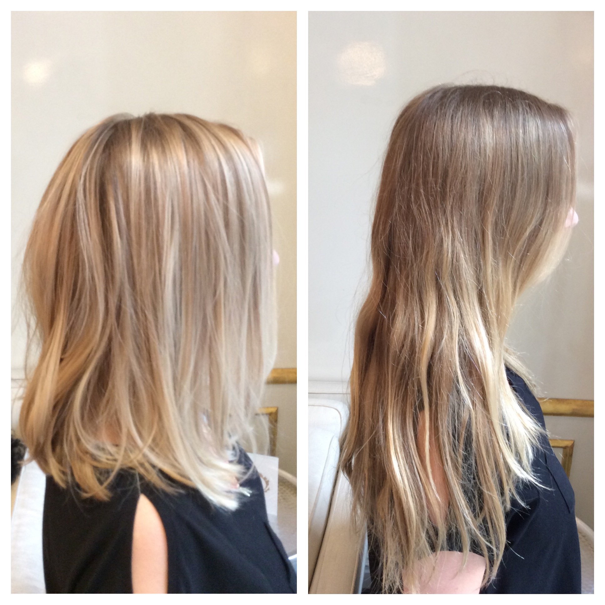 Lots Of Baby Blonde Balayage & Long Bob | Elle Kinney Intended For Balayage Highlights For Long Bob Hairstyles (View 9 of 20)