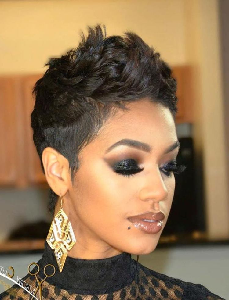 Messy Short Charming Pixie Cut Curly Hair 2017 – Hairstyles Pertaining To Most Popular Pixie Cut Hairstyles (View 14 of 20)