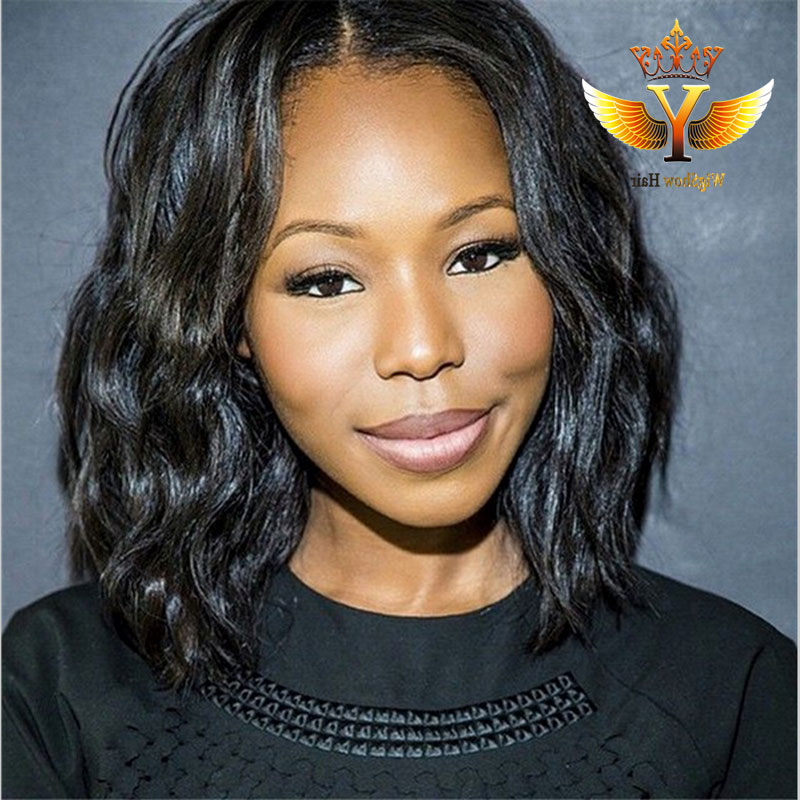 Middle Part Full Lace Short Wig 7a Virgin Human Hair Bob Regarding Well Liked Middle Part Hairstyles (View 10 of 20)