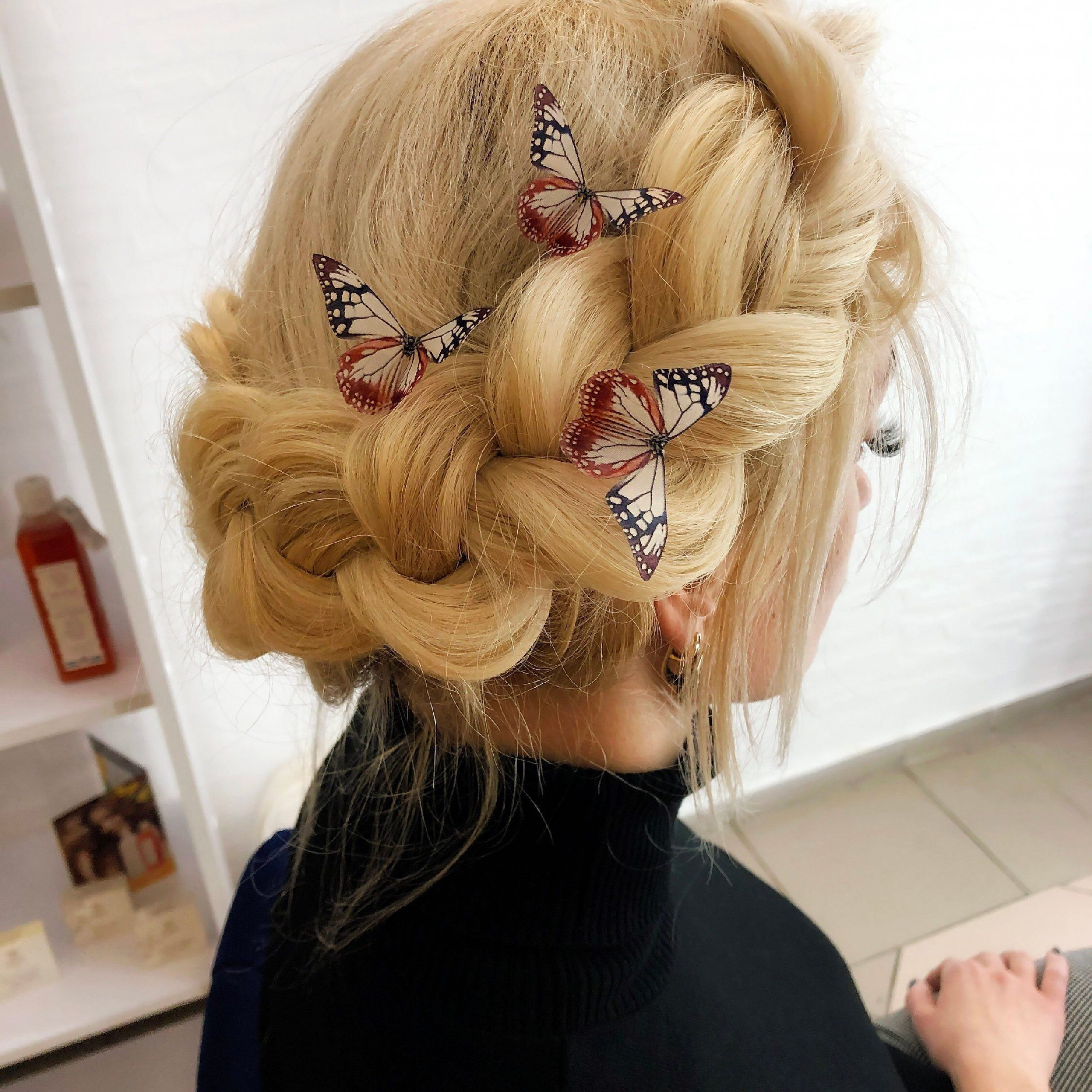 Most Popular Butterfly Clips Hairstyles Intended For #butterflyhairclips (View 17 of 20)