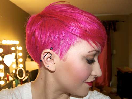 Most Popular Razor Cut Pink Pixie Hairstyles With Edgy Undercut Pertaining To 15+ Pink Pixie Hair (View 3 of 20)