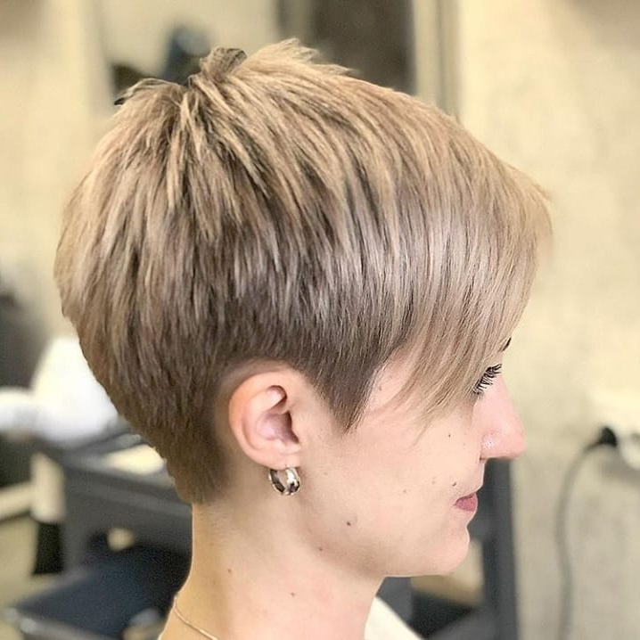 Most Popular Short And Choppy Graduated Pixie Haircuts In Stylish Pixie Haircuts In Ultra Modern Shapes – Nicestyles (View 15 of 20)