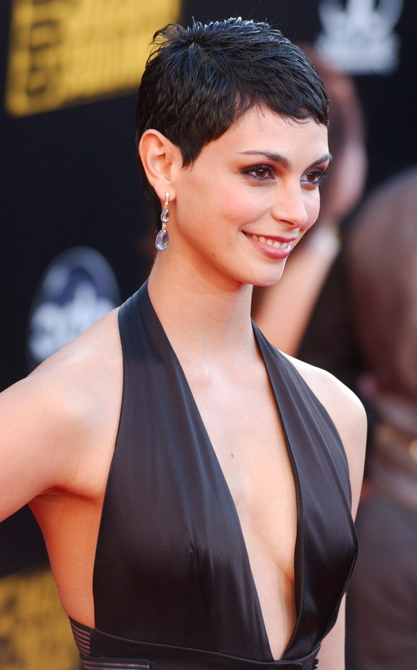 Most Popular Undercut Pixie Hairstyles With Hair Tattoo In Morena Baccarin (View 12 of 20)