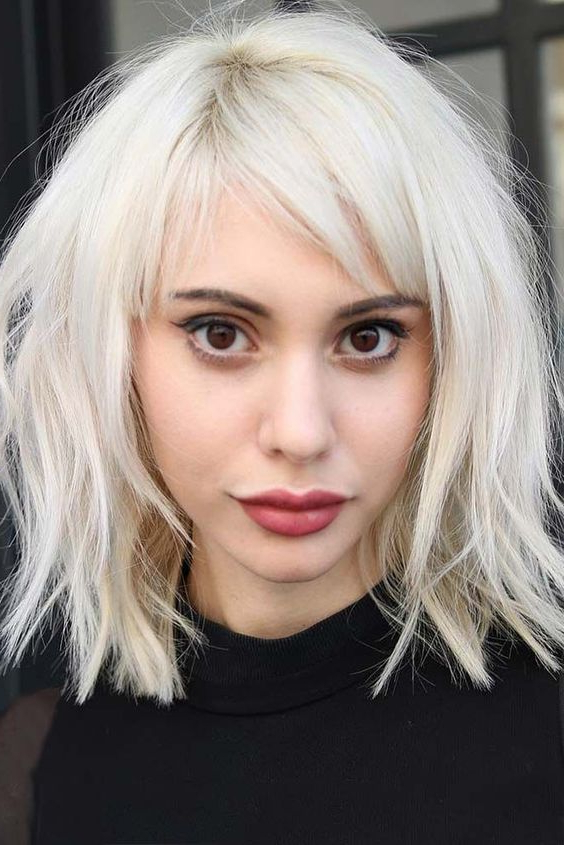 Most Recent Platinum Blonde Pixie Hairstyles With Long Bangs Throughout Wispy Bangs Styles And Looks (View 6 of 20)