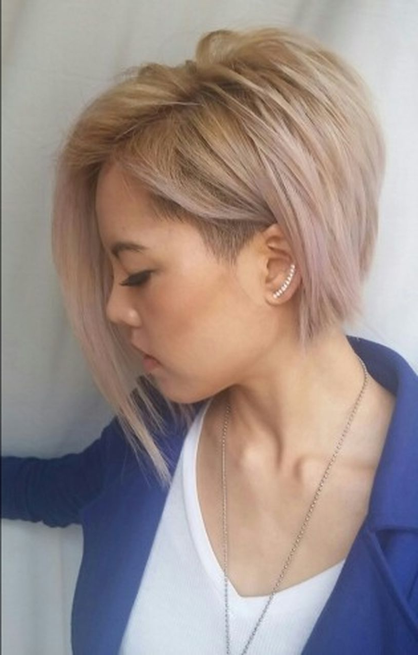 Most Recently Released Edgy Undercut Pixie Hairstyles With Side Fringe Within Funky Short Pixie Haircut With Long Bangs Ideas  (View 9 of 20)