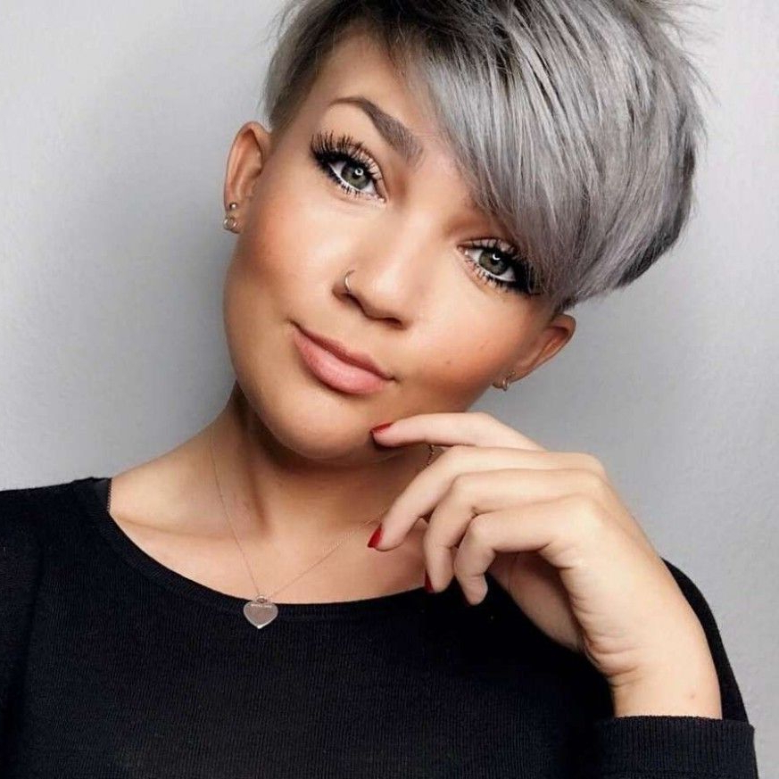 Most Recently Released Gray Short Pixie Cuts Inside Short Gray Hairstyle In  (View 12 of 20)