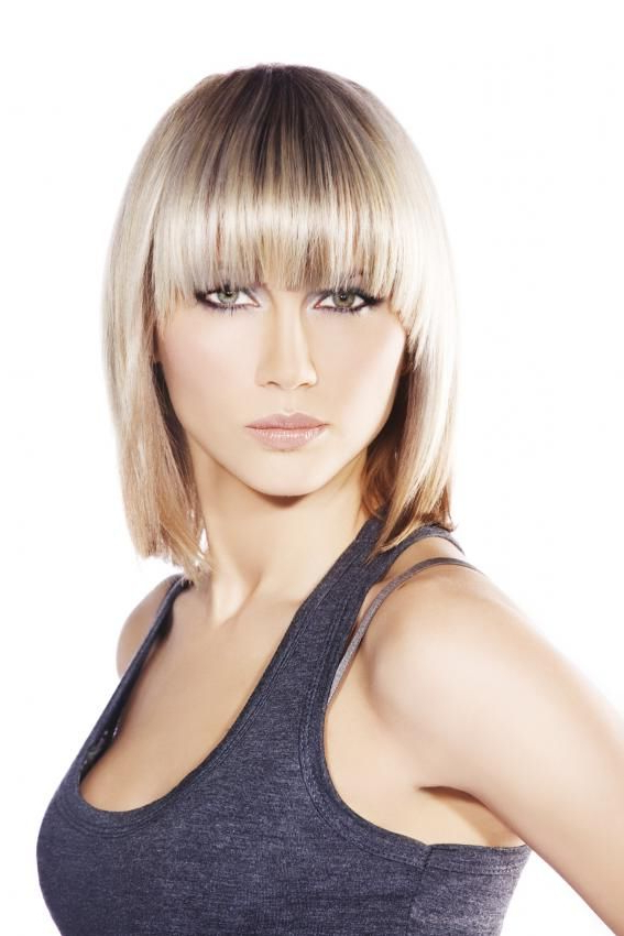 Most Recently Released Lob Hairstyles With A Face Framing Fringe Within Lob Hairstyle Pictures (View 5 of 20)