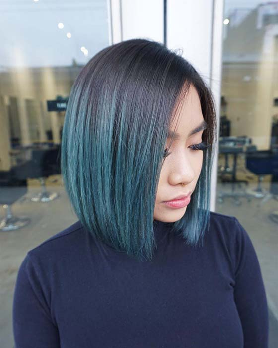 Most Recently Released Short Hairstyles With Blue Highlights And Undercut Within 23 Best Short Ombre Hair Ideas For  (View 16 of 20)