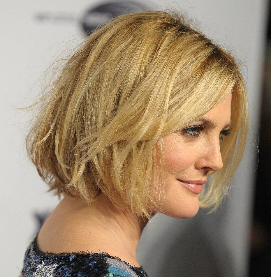 Most Up To Date Chin Length Bangs And Face Framing Layers Hairstyles With Chin Length Bob, No Layers, With Bangs (View 10 of 20)