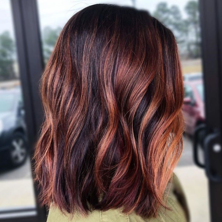 Natural Highlights | Black Hair With Highlights, Hair In Natural Brown Hairstyles With Barely There Red Highlights (View 8 of 20)