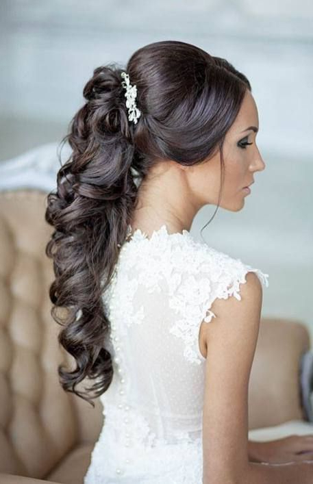 Newest Half Up Half Down Hairstyles With A Fringe With Regard To New Wedding Hairstyles Half Up Half Down With Fringe (View 15 of 20)