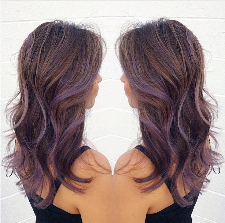 Nice Lavender Balayage | Highlights Brown Hair, Lilac With Regard To Lavender Balayage For Short A Line Haircuts (Gallery 14 of 20)