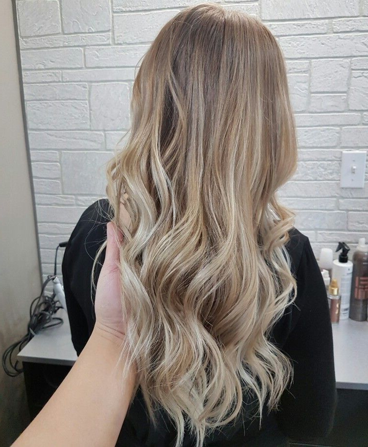 #ombre #balayage #blonde #curls #longhair #natural #subtle With Regard To Beachy Waves Hairstyles With Balayage Ombre (View 7 of 20)