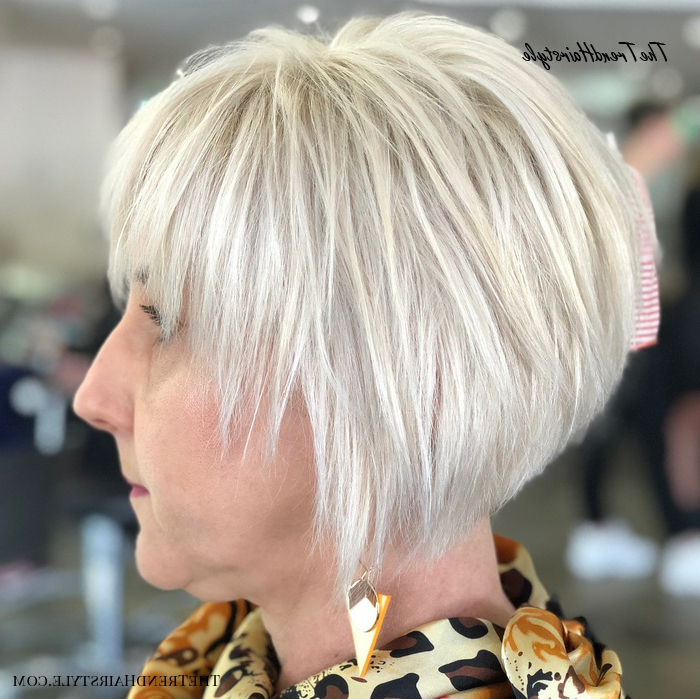 Piece Y Bright White Pixie Bob – 20 Best Hair Colors For Within White Blonde Curly Layered Bob Hairstyles (View 7 of 20)