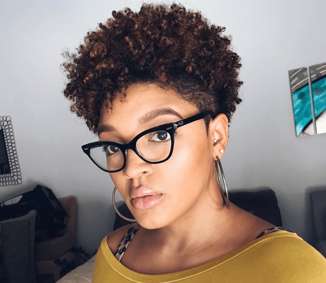 Pin On Beautiful Short Haircut Styles Within Most Current Two Tone Undercuts For Natural Hair (View 1 of 20)