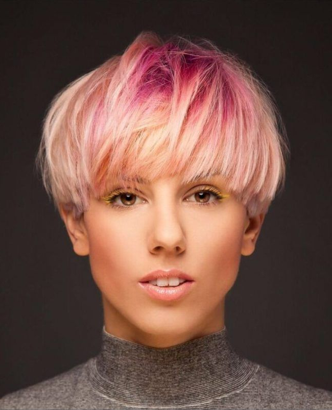 Pin On Bowl Cut – Pilzkopf Frisuren Pertaining To Current Tousled Pixie Hairstyles With Super Short Undercut (View 14 of 20)