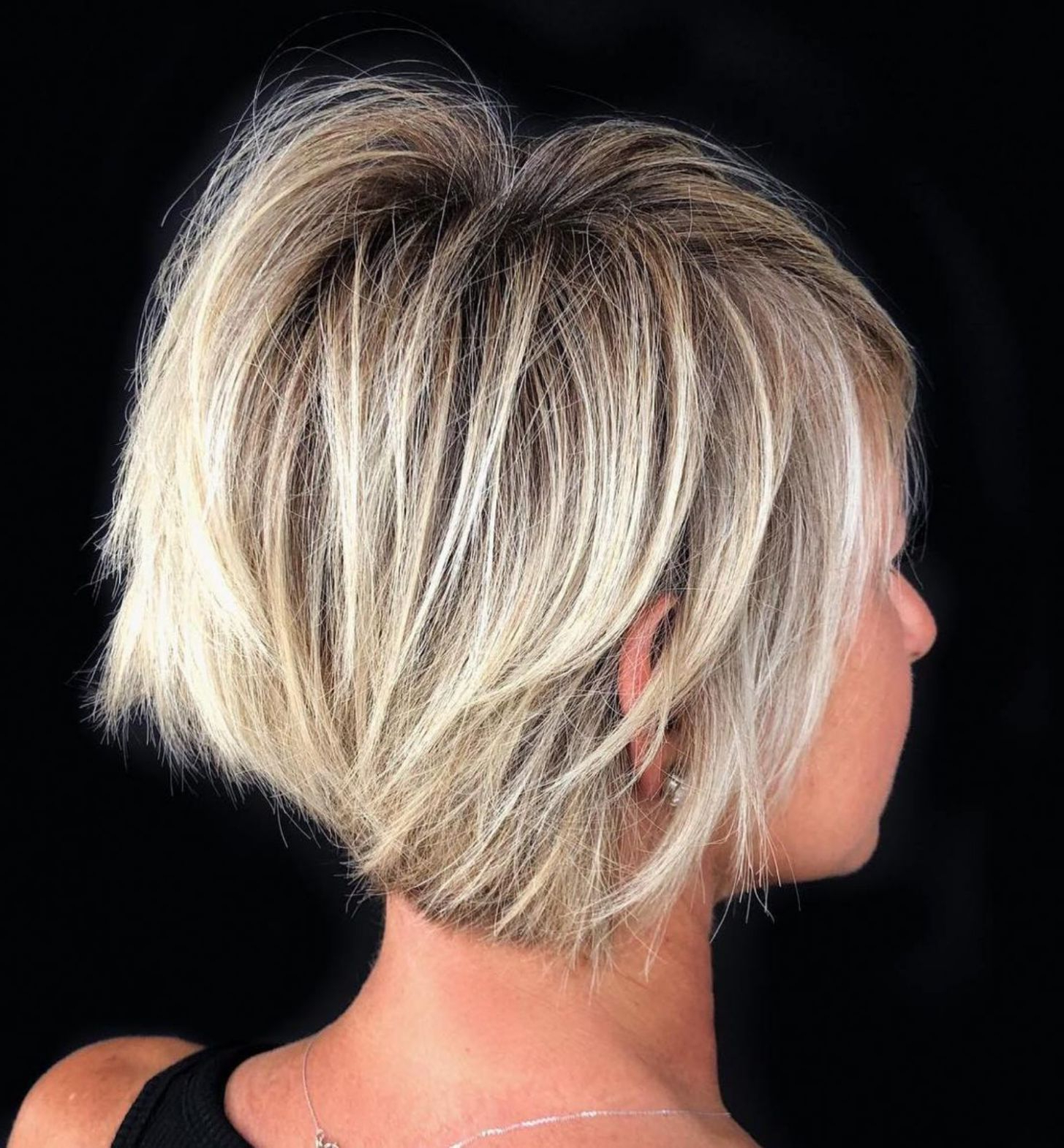 Pin On Cute Short Hair For Ash Blonde Balayage For Short Stacked Bob Hairstyles (View 4 of 20)