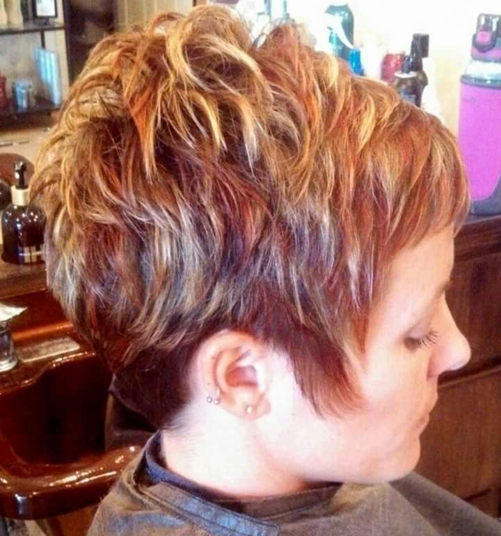 Pin On Favorite Hair Colors! Intended For Pixie Hairstyles With Red And Blonde Balayage (View 7 of 20)