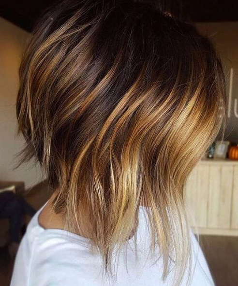 Pin On Haarfarben Pertaining To Warm Balayage On Short Angled Haircuts (View 12 of 20)