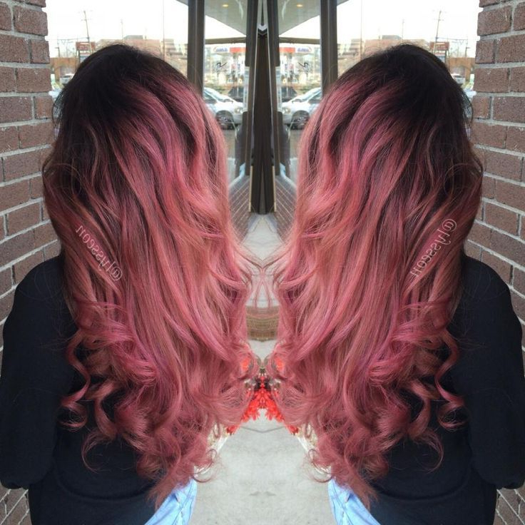 Pin On Hair And Beauty Inside Dimensional Dark Roots To Red Ends Balayage Hairstyles (View 3 of 20)