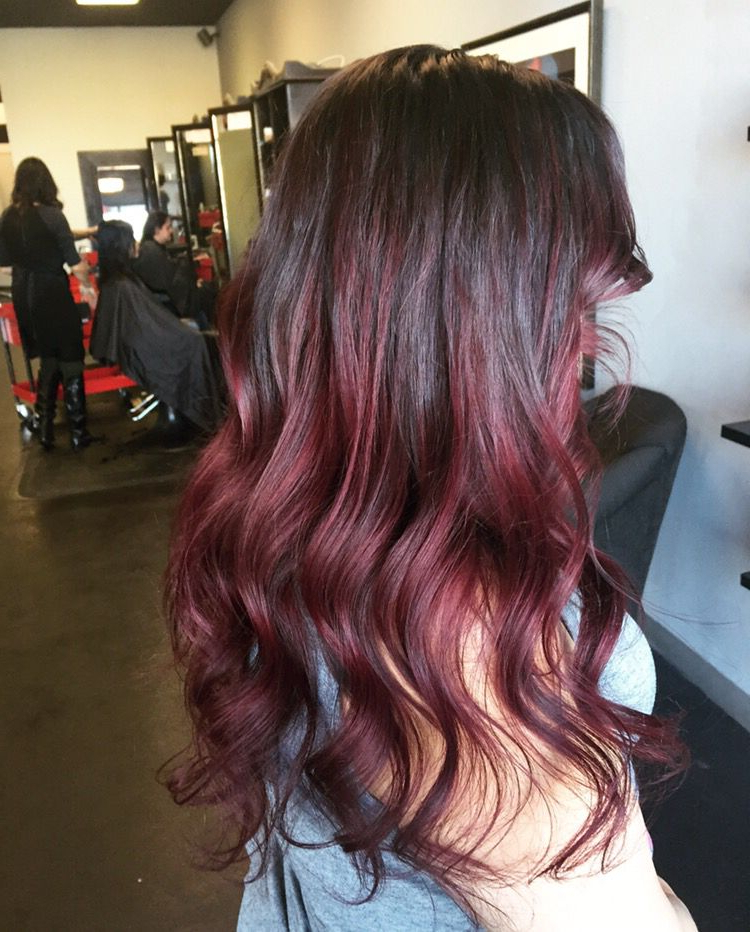 Pin On Hair For Burgundy Balayage On Dark Hairstyles (View 7 of 20)