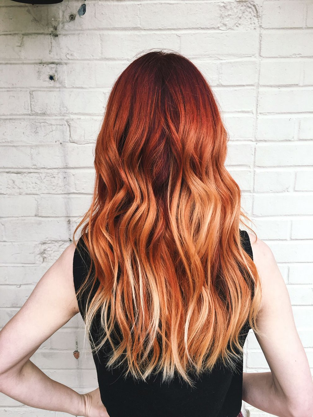 Pin On Hair Pertaining To Bright Red Balayage On Short Hairstyles (View 5 of 20)