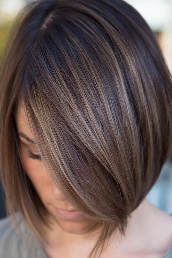 Pin On Hair Today In Ash Blonde Balayage For Short Stacked Bob Hairstyles (View 7 of 20)