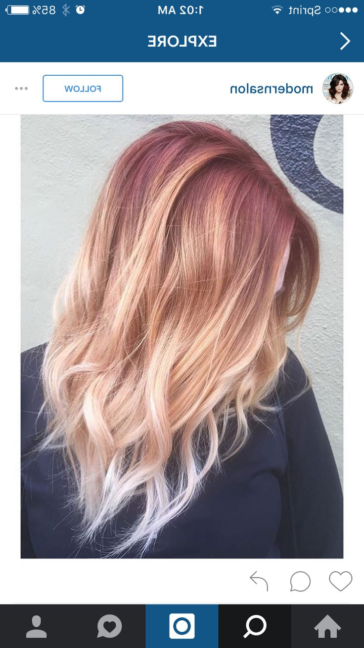 Pin On Hair With Regard To Marsala To Strawberry Blonde Ombre Hairstyles (View 7 of 20)