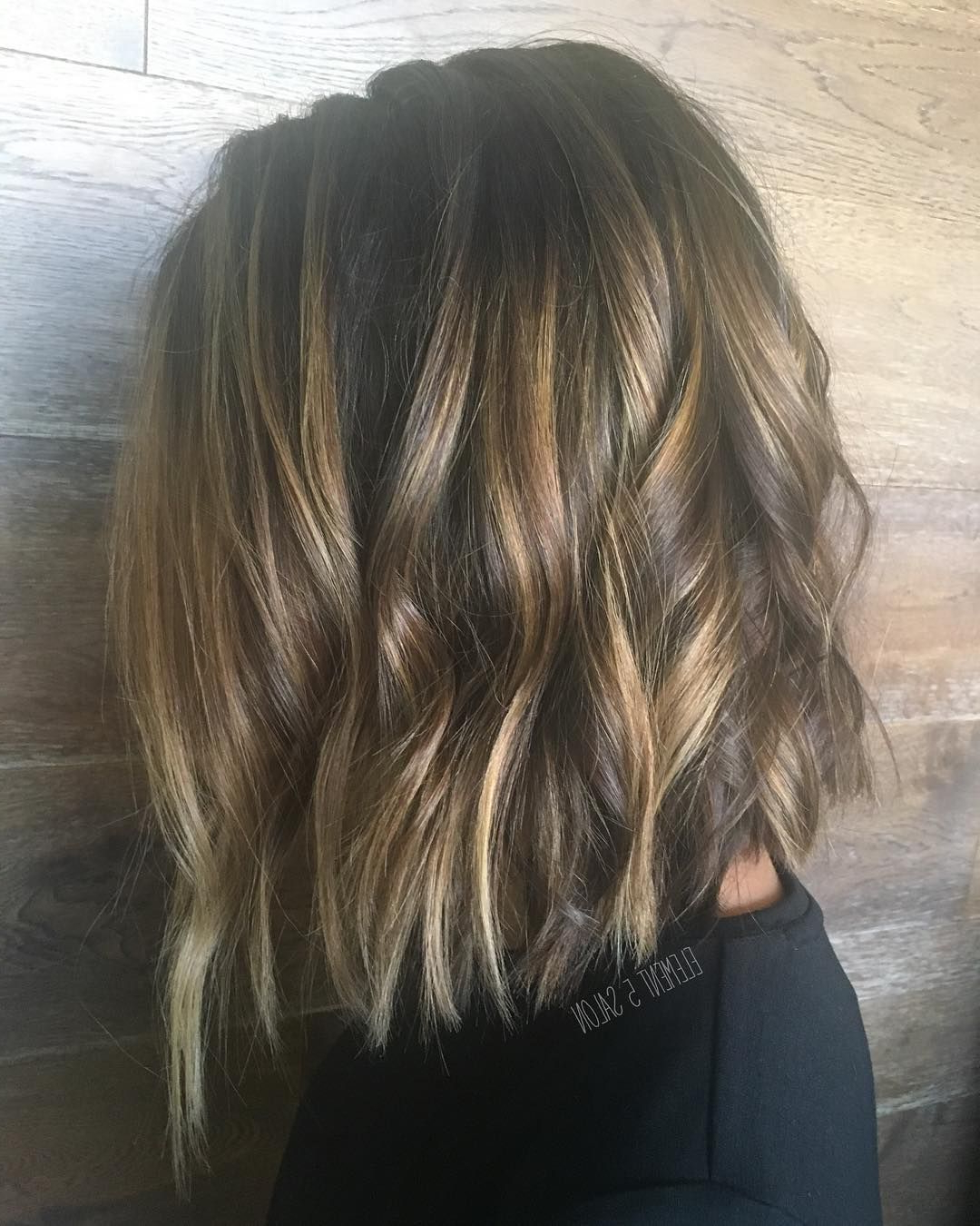 Pin On Hairbrittany Within Caramel Blonde Balayage On Inverted Lob Hairstyles (View 6 of 20)