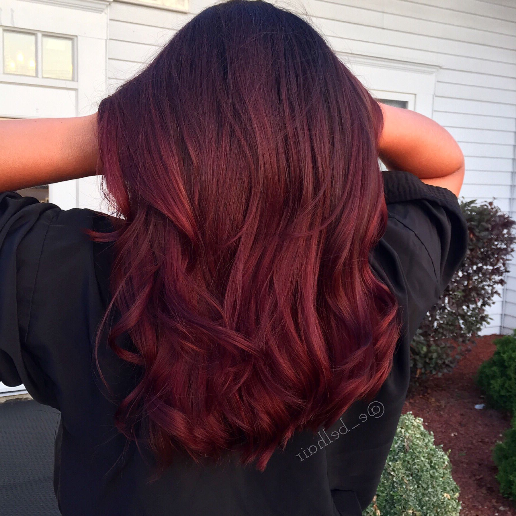 Pin On Hairemily Belcher Intended For Bright Red Balayage On Short Hairstyles (View 15 of 20)