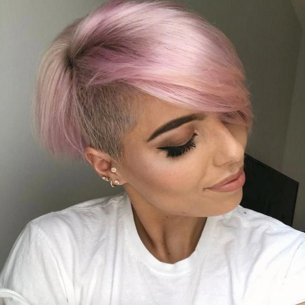Pin On Hairstyles Regarding 2018 Pastel Pixie Hairstyles With Undercut (View 5 of 20)