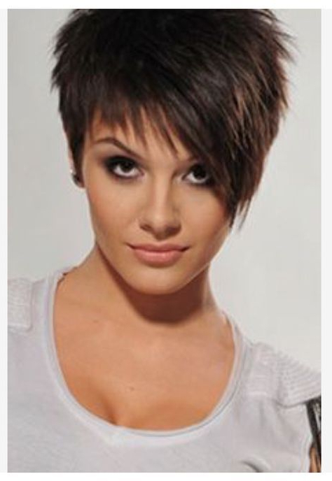 Pin On Hairstyles With Well Liked Razor Cut Pink Pixie Hairstyles With Edgy Undercut (View 11 of 20)