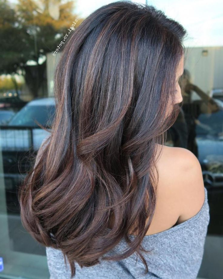 Pin On Highlight Options With Black Hairstyles With Brown Highlights (View 14 of 20)