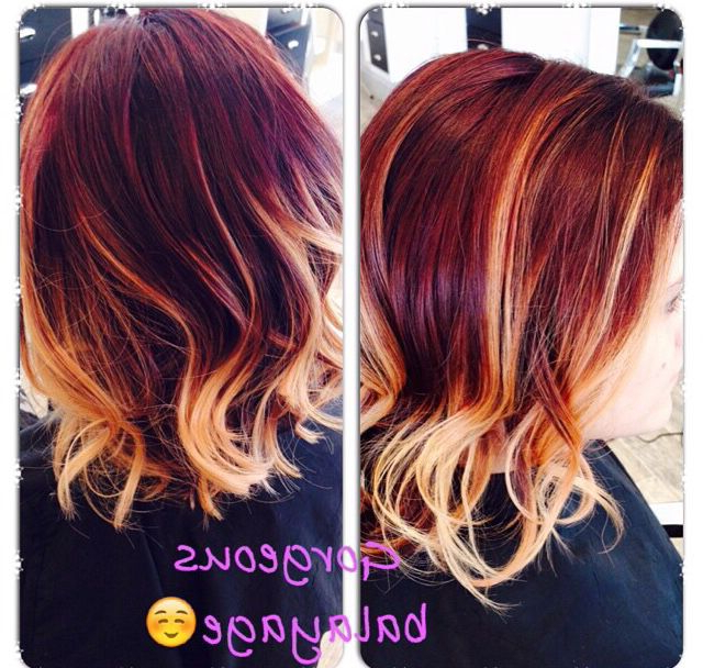 Pin On My Style Inside Pixie Hairstyles With Red And Blonde Balayage (View 9 of 20)