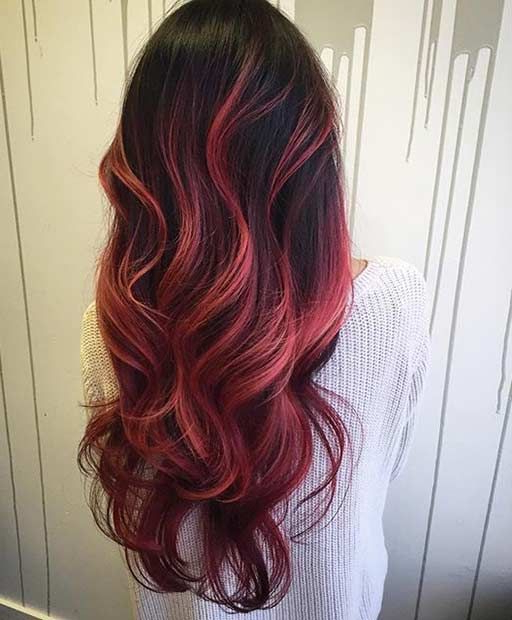 Pin On Stayglam Hairstyles With Regard To Bright Red Balayage On Short Hairstyles (View 18 of 20)