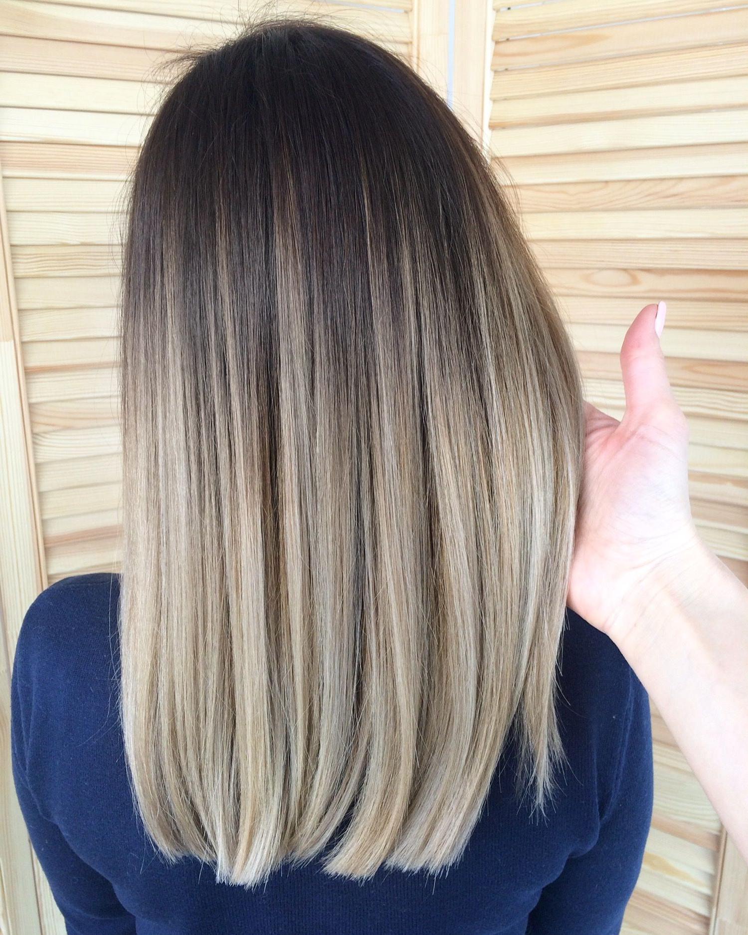 Pindorota Grcic On Окрашивание | Ash Blonde Balayage With Regard To Blonde Balayage On Short Dark Hairstyles (View 5 of 20)