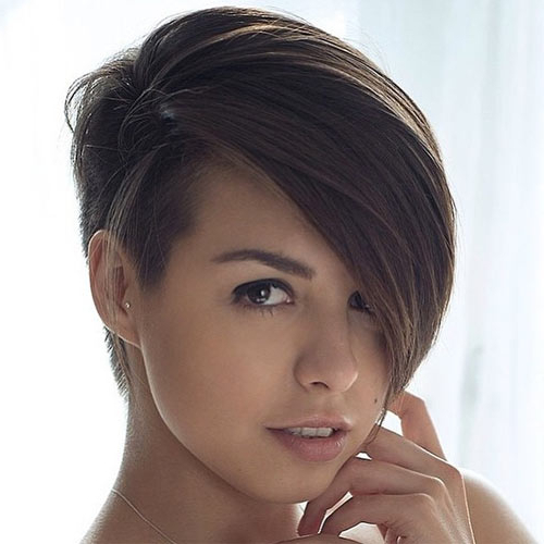 Pixie Undercut For Straight And Curly Hair In Widely Used Undercut Pixie Hairstyles With Hair Tattoo (View 18 of 20)