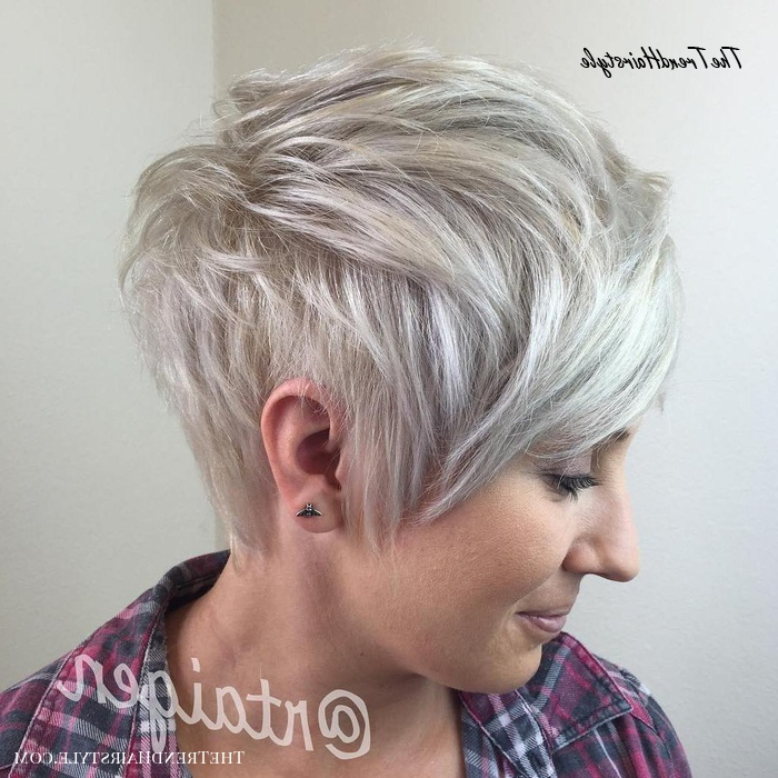 Platinum Blonde Short Chop – 60 Short Choppy Hairstyles Pertaining To Popular Platinum Blonde Pixie Hairstyles With Long Bangs (View 13 of 20)