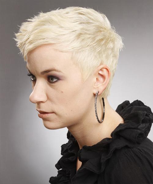 Platinum Pixie Cut With Side Swept Bangs For Favorite Platinum Blonde Pixie Hairstyles With Long Bangs (View 17 of 20)