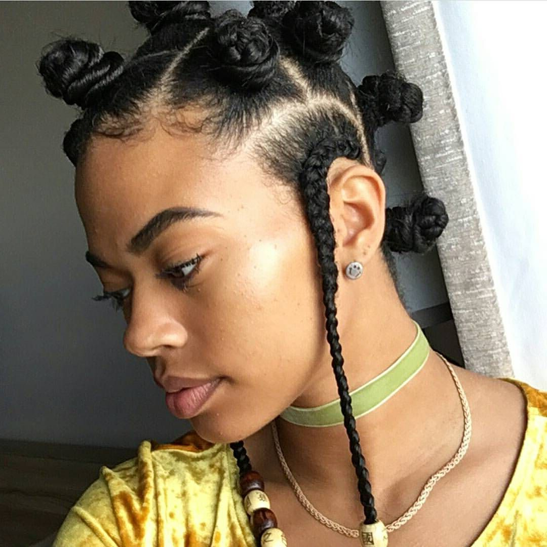 Popular Bantu Knots Hairstyles Throughout Pin On Twist (View 4 of 20)