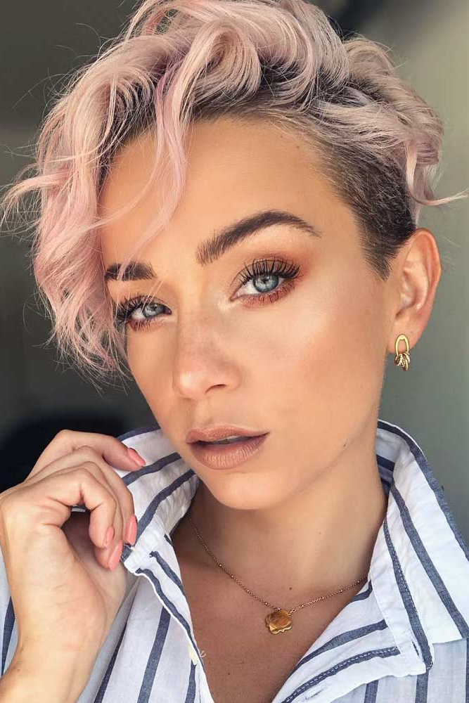 Popular Feminine Pixie Hairstyles With Asymmetrical Undercut In 45 Types Of Asymmetrical Pixie To Consider (View 1 of 20)