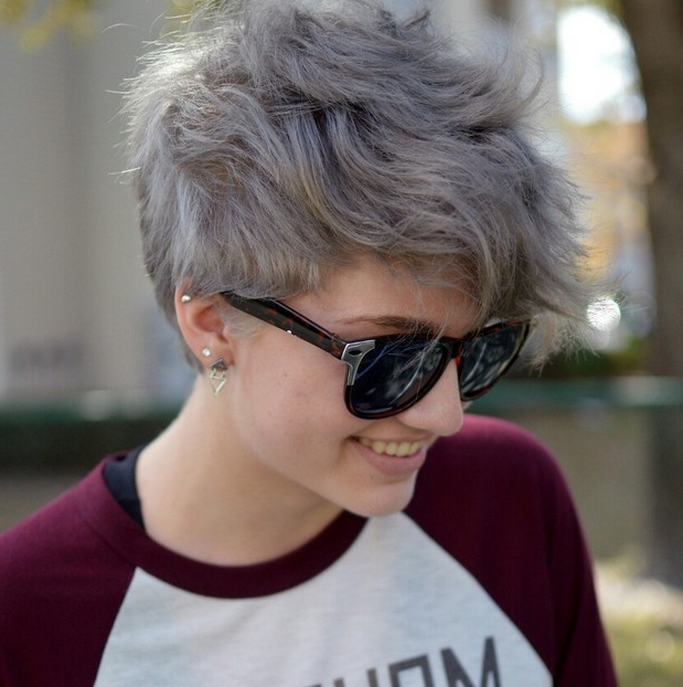 Popular Gray Short Pixie Cuts Inside Short Pixie Cut With Ash Gray Hair Color – Hairstyles Weekly (View 16 of 20)