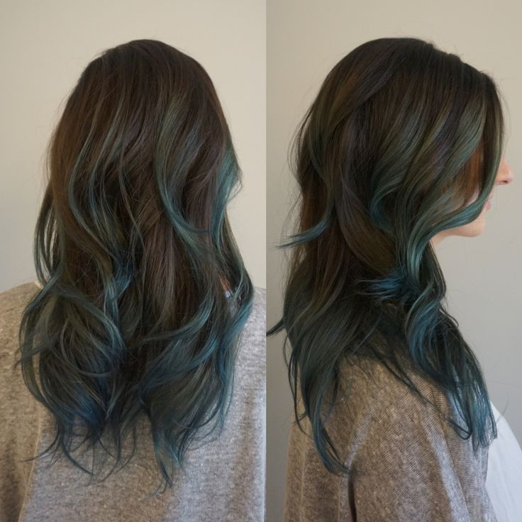 Popular Short Hairstyles With Blue Highlights And Undercut Regarding Brown And Blue Balayage – Google Search (View 10 of 20)