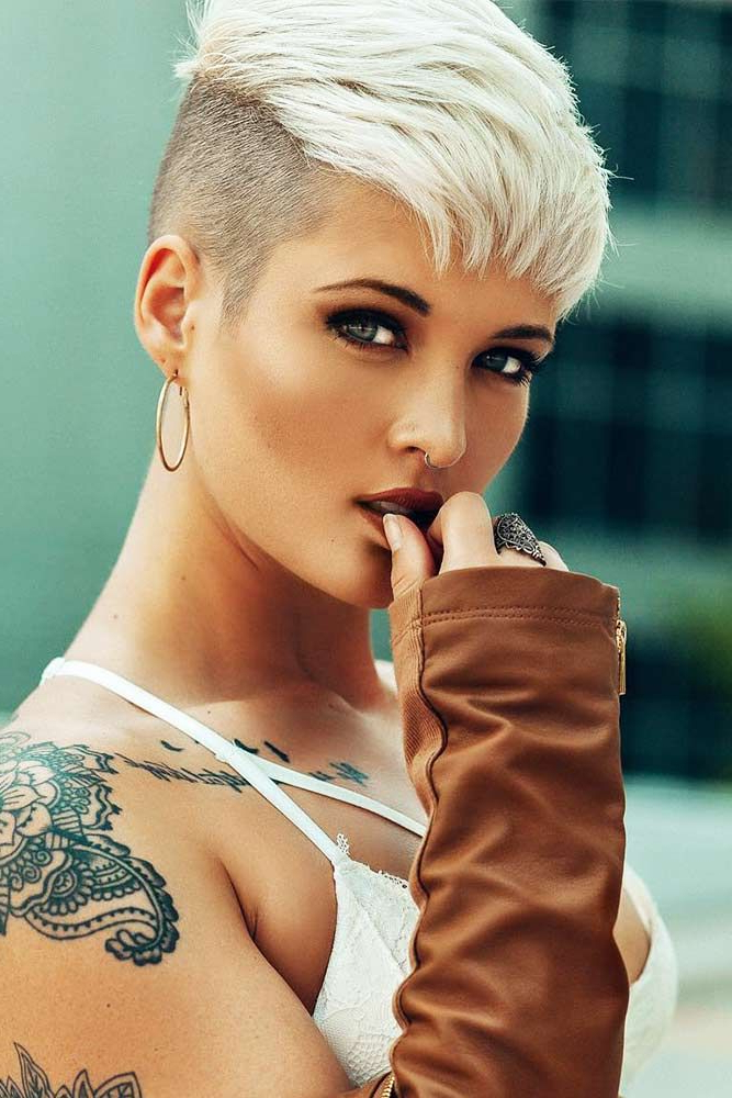 Popular Tousled Pixie Hairstyles With Super Short Undercut Intended For Pin On Pixie! (View 2 of 20)