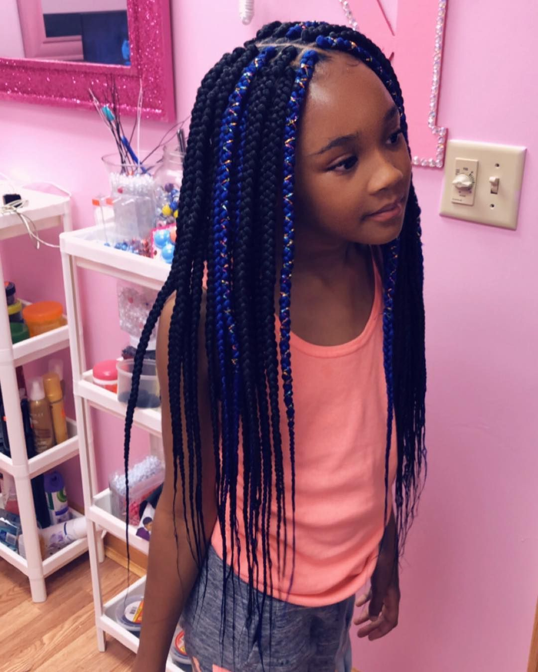 Preferred Tiny Braids Hairstyles With 42 Best Box Braids Hairstyles Kids Images In Mar (View 5 of 20)