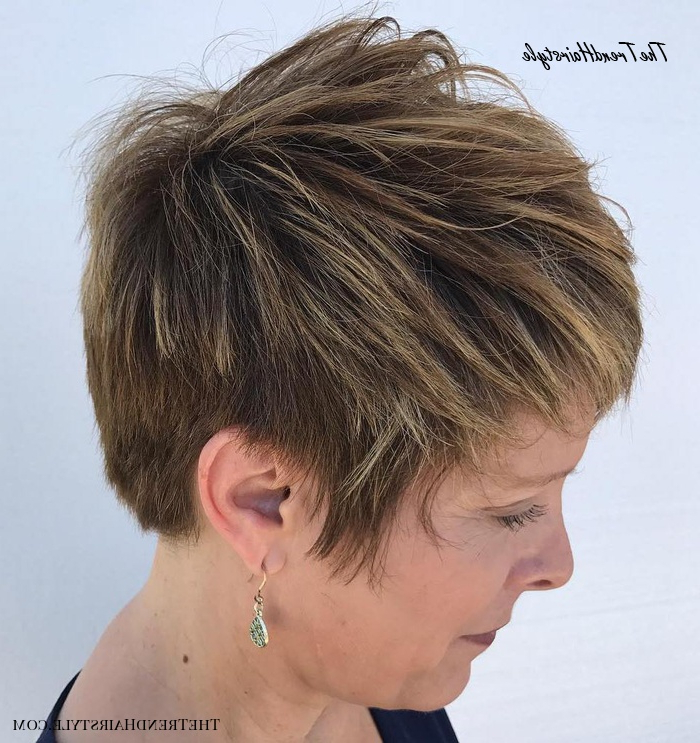 Razored Pixie With Balayage And Root Shadow – 20 Flawless In Sexy Long Pixie Hairstyles With Babylights (View 16 of 20)