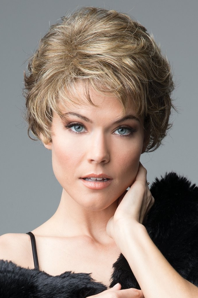 Recent Full Fringe And Face Framing Layers Hairstyles Intended For Short Shag Wigs With Face Framing Layers And Wispy Fringe (View 14 of 20)