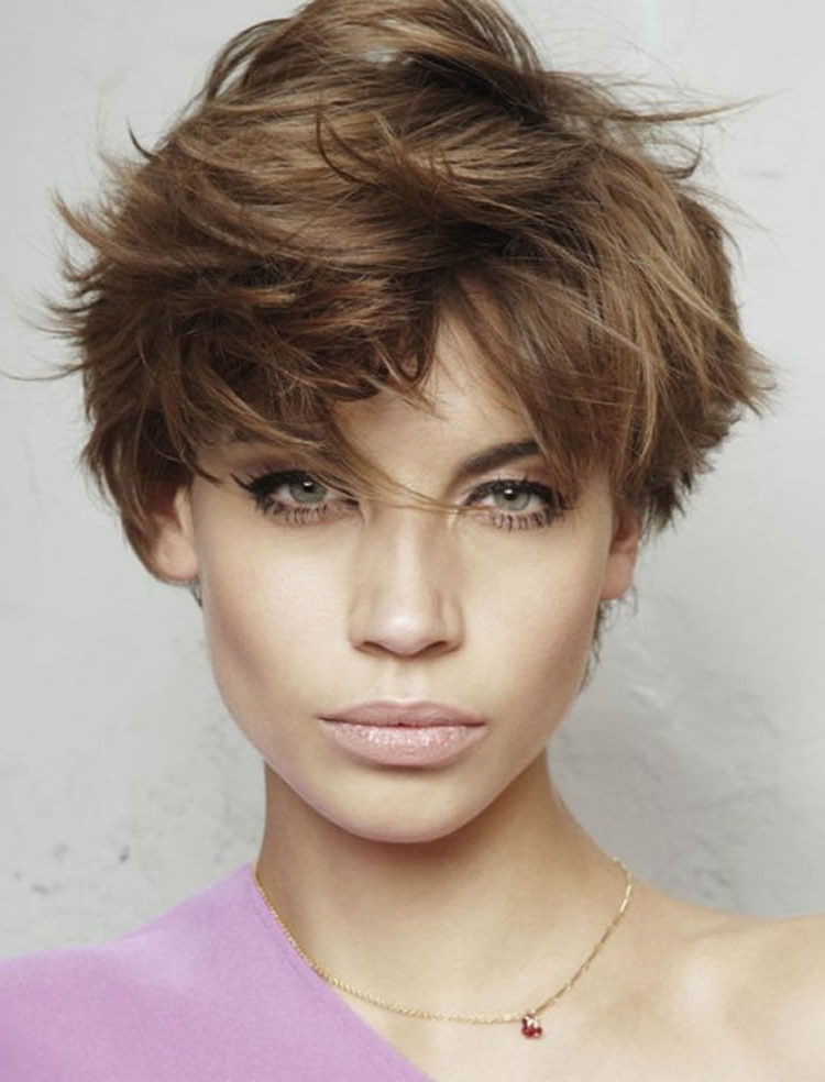 Recent Short Messy Bangs Hairstyles With Regard To 34 Trendy Bob & Pixie Hairstyles For Spring Summer (View 15 of 20)